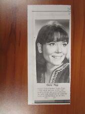 Vtg AP Wire Press Photo Actress Diana Rigg Follies, GOT, Avengers, Victoria #2