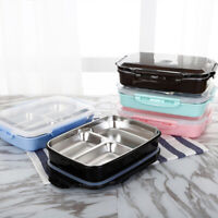 Kids Adult Lunch Bento Box Stainless Portable Picnic School Food Fruit Container