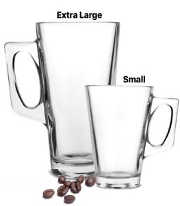 Extra Large Small Latte Coffee Tea Glass Mugs Cups For Tassimo Pods Costa Pods