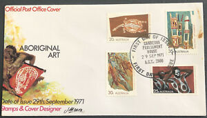 Australia FDC 1971 Aboriginal Art