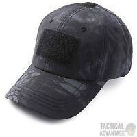 Black Kryptec Typhon Camo Baseball Cap Operators Hat Airsoft Army Camouflage UK