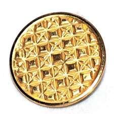 Bouton ancien en métal doré motif ciselé 23mm button