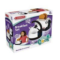Casdon 486 Toy Classique Breakfast Set Kettle & Pop Up Toaster NEW