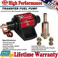 Super Performance 42GPH 2-3.5PSI Portable 12V 3//8/' Electric Gasoline Fuel Pump