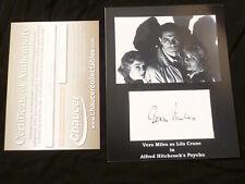 "Vera Miles Autographed Original 8x10 ""Psycho"" Hand Signed W/Cert COA"