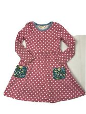 matilda jane dresses size 6 Pink/white Polka Dot Dress