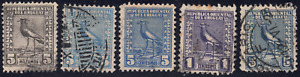 1923-27 Uruguay SC# 267-337 - F - Southern Lapwing - 5 Different Stamps - Used