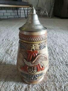Anheuser Busch Budweiser Lidded Beer Stein 100 Year Anniversary Ceramarte Mint