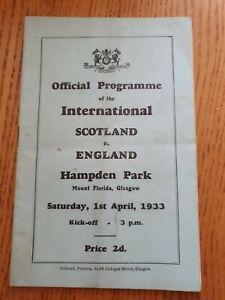 1933 - Scotland 🏴 v England 🏴