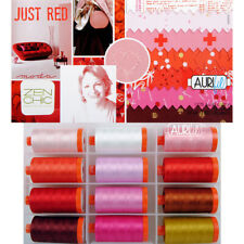 THREAD Aurifil ~ JUST RED ~ by Zen Chic 12 1422 yd spools 50 wt