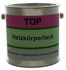 2,5 L Heizkörperlack - WEISS - Seidenglanz