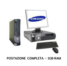 PC COMPUTER  RICONDIZIONATO INTEL PENTIUM 4 DELL OPTIPLEX DDR INTEL WINDOWS XP