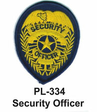 """SECURITY OFFICER(A) EMBROIDERED PATCHES 4"""""""