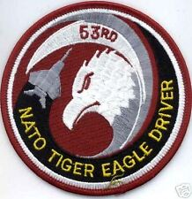 USAF F-15 53d FS SQN PATCH NATO TIGER EAGLE DRIVER DISB