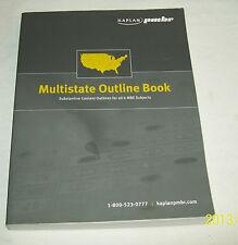 Multistate Outline Book 2008 Kaplan PMBR Tort Property Criminal Law Evidence