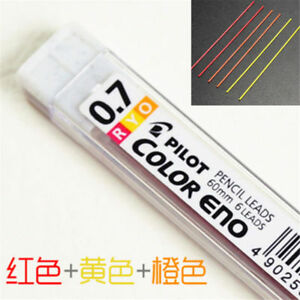 0.7mm 11 Colours Mechanical Pencil Lead Refills + Case For Students Gift