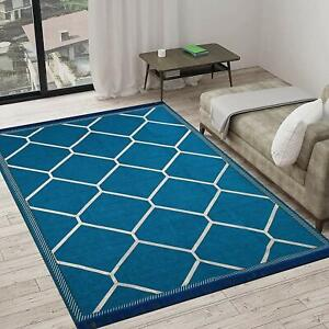 Jacquard Weaved Chenille Rug and Carpet Living Room and Bedroom Area 4.5 x 6 Ft