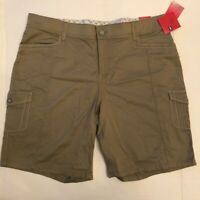 Lee Womens Comfort Fit Bermuda Walking Shorts Beige Stretch Zip Plus 20W New