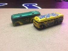 2-Hot Wheels ~ Surfin' School Bus ~ 1:64 Scale loose