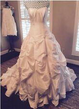 David's Bridal 18 Plus Size Wedding Dress, Ivory Sweetheart Ballgown, Strapless