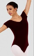 Capezio 1470 Women's Small (4-6) Burgundy ABT Cap Sleeve Pinch Front Leotard