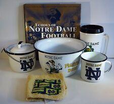 Lot of Notre Dame Fighting Irish Items: Book, Travel Mug, Kitchenware College