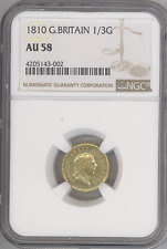 Great Britain 1/3 Guinea 1810 GEORGE III NGC-AU58 Choice+ Almost Uncirculated