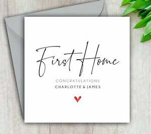 First Home Card, New Home, Congratulations, Moving, Personalised Add Names