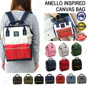 Japan Anello Inspired Women Travel Backpack Canvas Shoulder School Fashion Bag