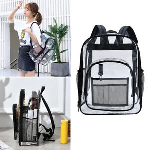 Water Resistant Clear PVC Backpack Transparent Bag Stadium School Sports