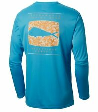 Mens Columbia Pfg Terminal Tackle Fish Omni-Shade L/S T-Shirt - 2Xl & Xl - Nwt
