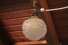 Jugendstil Art Deco Lampe Deckenlampe Hängelampe  Plafoniere Kugel Glas Bauhaus