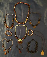 Mixed 10pc. Costume Jewelry African Inspired Mixed Lot - Necklace - Bracelet -