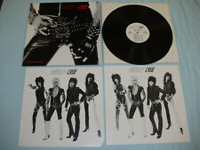 "MOTLEY CRUE Too Fast For Love 12"" vinyl LP Leathur Records SIGNED 2nd press"