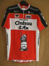Maillot cycliste Château d'Ax Salotti Huni Nalini 1990 Vintage jersey - XL