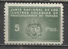 7402-SELLO FISCAL CORPORATIVO COLEGIO PROCURADORES 5 PESETAS SPAIN REVENUE FISCA
