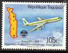 Air Afrique BOEING 707 Airliner Aircraft Stamp (1984 Togo)