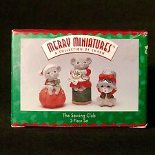 Hallmark Merry Minatures The Sewing Club Mice Christmas A Collection Of Charm