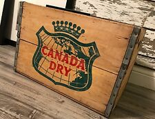 Vintage 1963 Canada Dry Wood Soda Crate Case Box