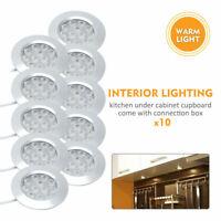 10x 12V Interior LED Spot Warm Light For bathroom Camper Van Caravan Motorhome