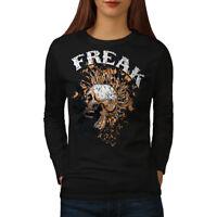 Freak Punk Rock Skull Women Long Sleeve T-shirt NEW | Wellcoda