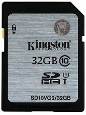 32GB YES Original Kingston SD SDHC/XC C10 Flash Memory Card f.Camera