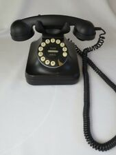 Retro Style Grand Phone Flash Redial Black Working