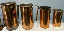 Set Of 4 Vintage Copper Tall Stacking Measuring Cups