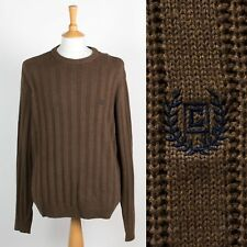 MENS RALPH LAUREN CHAPS COTTON KNIT JUMPER RIBBED STYLE SWEATER CASUAL XL