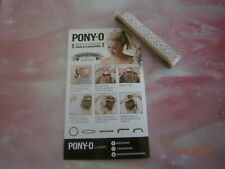 (1) ONE PONY-O Hair Tie Band Clip NEW! ** Sandy Beach w/White Lace **