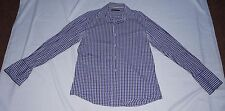 Trent Nathan Business Shirt Check Size 41 Cotton Silk