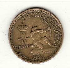 MONACO 1 FRANC  1924 POISSY cote 20 euro TTB