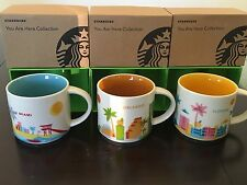 LOT Of 3: Miami+ Florida + Orlando 14 Oz.  You Are Here (YAH) Starbucks Mugs