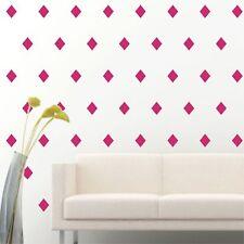 "4"" Set of 96 Hot Pink Diamond Shape Wall Decal Vinyl Sticker Wall Pattern Decor"